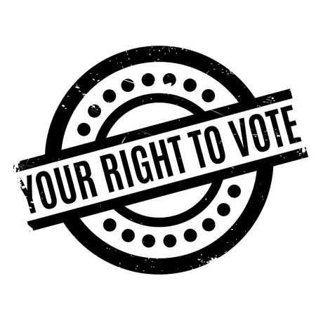 suffrage: Your Right To Vote rubber stamp. Grunge design with dust scratches. Effects can be easily removed for a clean, crisp look. Color is easily changed.
