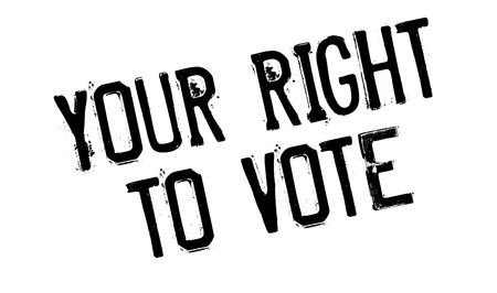 right to vote: Your Right To Vote rubber stamp. Grunge design with dust scratches. Effects can be easily removed for a clean, crisp look. Color is easily changed.