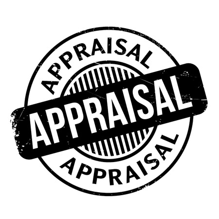 valuation: Appraisal rubber stamp. Grunge design with dust scratches. Effects can be easily removed for a clean, crisp look. Color is easily changed.