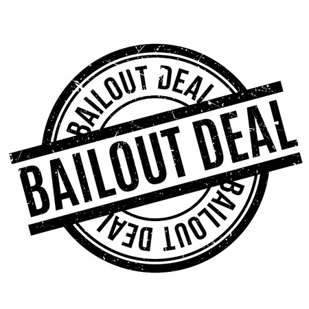 credit crunch: Bailout Deal rubber stamp. Grunge design with dust scratches. Effects can be easily removed for a clean, crisp look. Color is easily changed.