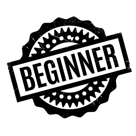 beginner: Beginner rubber stamp. Grunge design with dust scratches. Effects can be easily removed for a clean, crisp look. Color is easily changed.