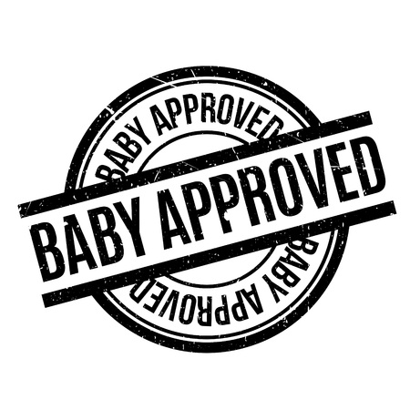 affirmative: Baby Approved rubber stamp. Grunge design with dust scratches. Effects can be easily removed for a clean, crisp look. Color is easily changed. Illustration