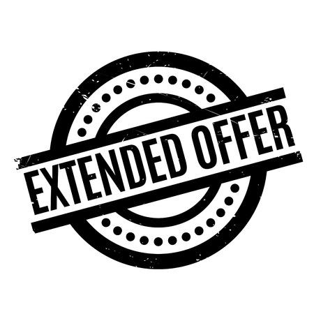 Extended Offer rubber stamp. Grunge design with dust scratches. Effects can be easily removed for a clean, crisp look. Color is easily changed. Illustration