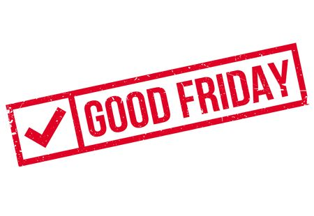 appropriate: Good Friday rubber stamp. Grunge design with dust scratches. Effects can be easily removed for a clean, crisp look. Color is easily changed.