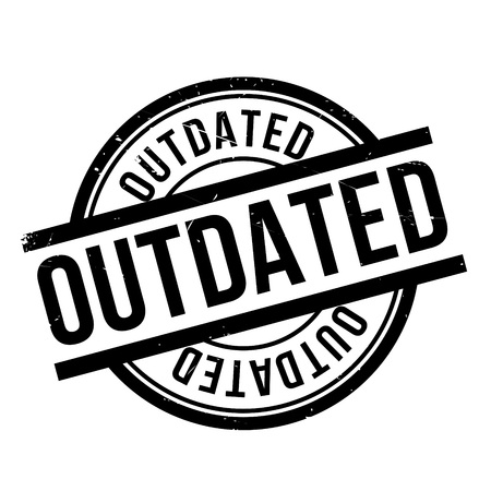 outmoded: Outdated rubber stamp. Grunge design with dust scratches. Effects can be easily removed for a clean, crisp look. Color is easily changed. Illustration