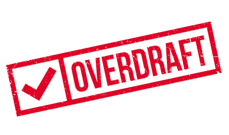 liquidation: Overdraft rubber stamp. Grunge design with dust scratches. Effects can be easily removed for a clean, crisp look. Color is easily changed.