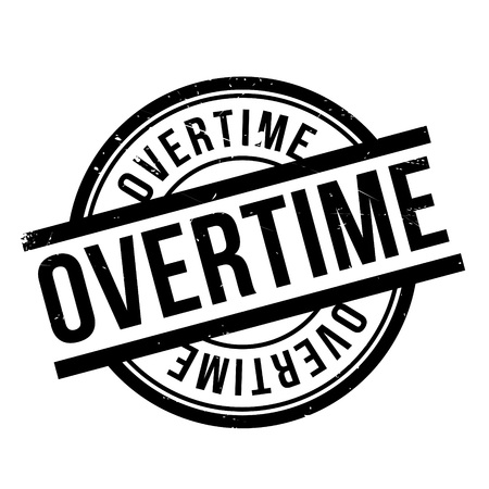 Overtime rubber stamp. Grunge design with dust scratches. Effects can be easily removed for a clean, crisp look. Color is easily changed.