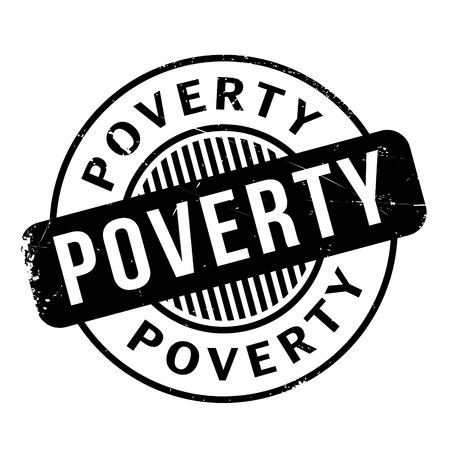 impoverished: Poverty rubber stamp. Grunge design with dust scratches. Effects can be easily removed for a clean, crisp look. Color is easily changed.