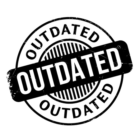 outdated: Outdated rubber stamp. Grunge design with dust scratches. Effects can be easily removed for a clean, crisp look. Color is easily changed. Illustration