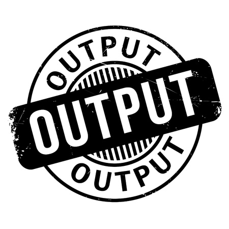 output: Output rubber stamp. Grunge design with dust scratches. Effects can be easily removed for a clean, crisp look. Color is easily changed.