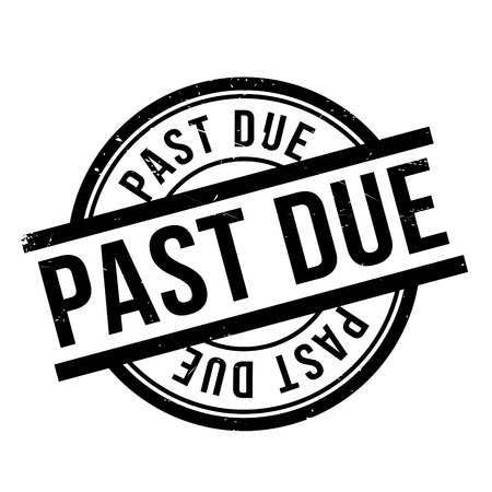 postmark: Past Due rubber stamp. Grunge design with dust scratches. Effects can be easily removed for a clean, crisp look. Color is easily changed.