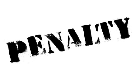 retribution: Penalty rubber stamp. Grunge design with dust scratches. Effects can be easily removed for a clean, crisp look. Color is easily changed. Illustration