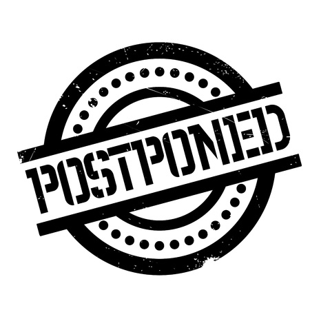 Postponed rubber stamp. Grunge design with dust scratches. Effects can be easily removed for a clean, crisp look. Color is easily changed. Illustration