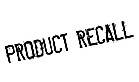 unsafe: Product Recall rubber stamp. Grunge design with dust scratches. Effects can be easily removed for a clean, crisp look. Color is easily changed. Illustration