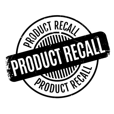 flaw: Product Recall rubber stamp. Grunge design with dust scratches. Effects can be easily removed for a clean, crisp look. Color is easily changed. Illustration