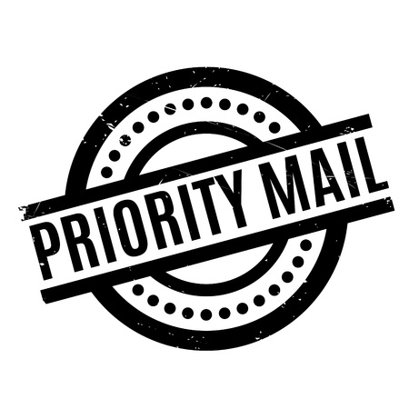 airmail stamp: Priority Mail rubber stamp. Grunge design with dust scratches. Effects can be easily removed for a clean, crisp look. Color is easily changed.