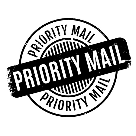 quickly: Priority Mail rubber stamp. Grunge design with dust scratches. Effects can be easily removed for a clean, crisp look. Color is easily changed.