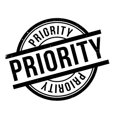 Priority rubber stamp. Grunge design with dust scratches. Effects can be easily removed for a clean, crisp look. Color is easily changed. Ilustração