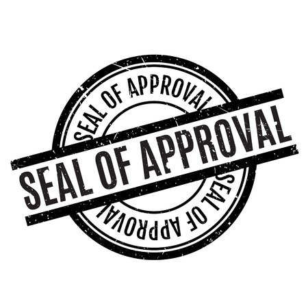 endorsement: Seal Of Approval rubber stamp. Grunge design with dust scratches. Effects can be easily removed for a clean, crisp look. Color is easily changed.