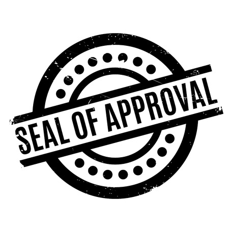 endorse: Seal Of Approval rubber stamp. Grunge design with dust scratches. Effects can be easily removed for a clean, crisp look. Color is easily changed.