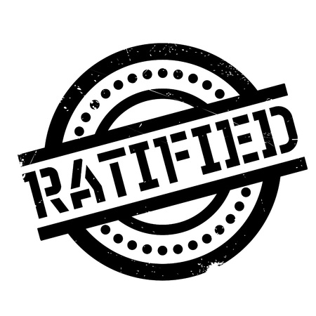 ratify: Ratified rubber stamp. Grunge design with dust scratches. Effects can be easily removed for a clean, crisp look. Color is easily changed.