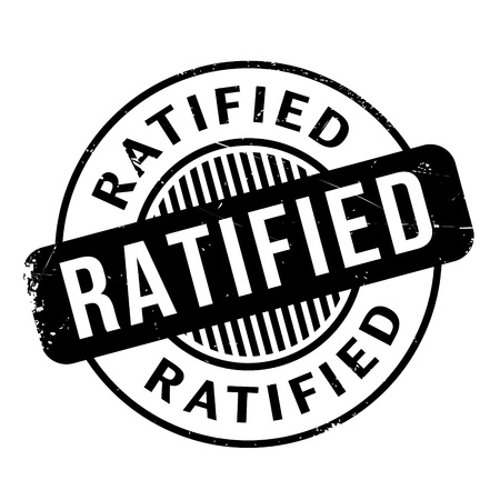 ratification: Ratified rubber stamp. Grunge design with dust scratches. Effects can be easily removed for a clean, crisp look. Color is easily changed.