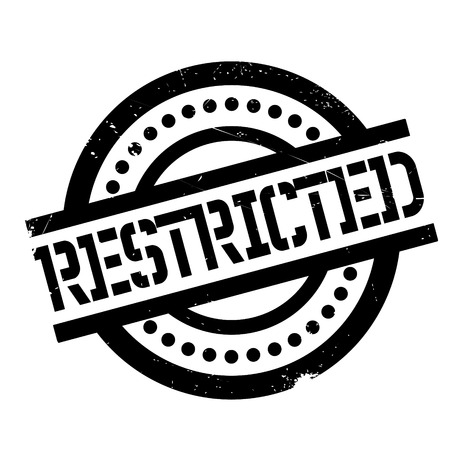 restricted area sign: Restricted rubber stamp. Grunge design with dust scratches. Effects can be easily removed for a clean, crisp look. Color is easily changed. Illustration