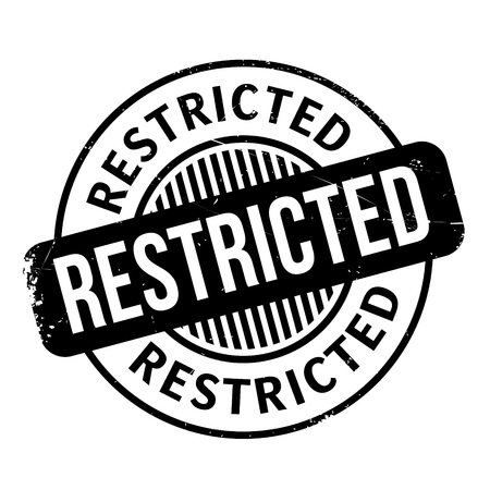 no trespassing: Restricted rubber stamp. Grunge design with dust scratches. Effects can be easily removed for a clean, crisp look. Color is easily changed. Illustration