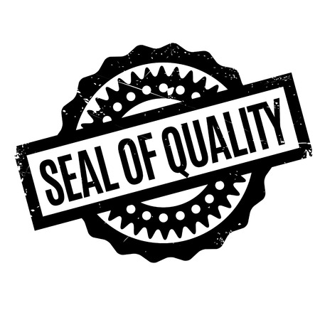 trait: Seal Of Quality rubber stamp. Grunge design with dust scratches. Effects can be easily removed for a clean, crisp look. Color is easily changed.