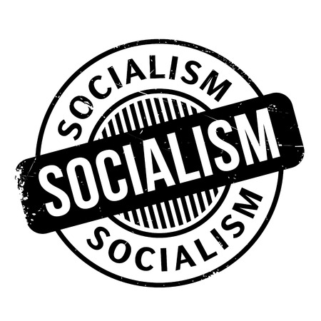 socialism: Socialism rubber stamp. Grunge design with dust scratches. Effects can be easily removed for a clean, crisp look. Color is easily changed.