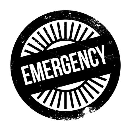 squeeze shape: Emergency stamp. Grunge design with dust scratches. Effects can be easily removed for a clean, crisp look. Color is easily changed. Illustration
