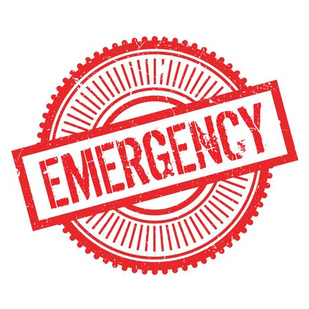 Emergency stamp. Grunge design with dust scratches. Effects can be easily removed for a clean, crisp look. Color is easily changed. Illustration