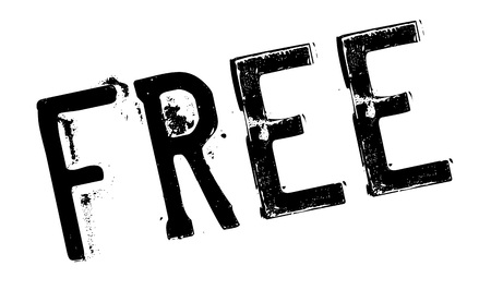 handout: Free stamp. Grunge design with dust scratches. Effects can be easily removed for a clean, crisp look. Color is easily changed.
