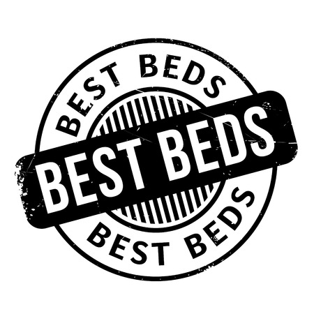 nonpareil: Best Beds rubber stamp. Grunge design with dust scratches. Effects can be easily removed for a clean, crisp look. Color is easily changed.