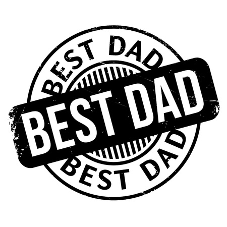 Best Dad rubber stamp. Grunge design with dust scratches. Effects can be easily removed for a clean, crisp look. Color is easily changed. Illustration