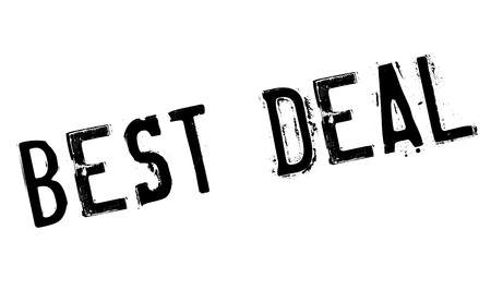 apt: Best Deal rubber stamp. Grunge design with dust scratches. Effects can be easily removed for a clean, crisp look. Color is easily changed.