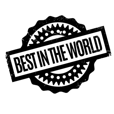 desirable: Best In The World rubber stamp. Grunge design with dust scratches. Effects can be easily removed for a clean, crisp look. Color is easily changed.