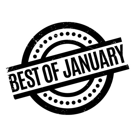 Best Of January rubber stamp. Grunge design with dust scratches. Effects can be easily removed for a clean, crisp look. Color is easily changed. Illustration