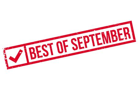 apt: Best Of September rubber stamp. Grunge design with dust scratches. Effects can be easily removed for a clean, crisp look. Color is easily changed. Illustration