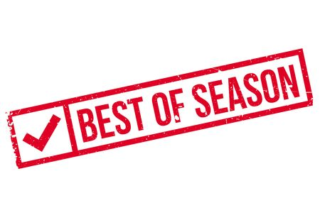 Best Of Season rubber stamp. Grunge design with dust scratches. Effects can be easily removed for a clean, crisp look. Color is easily changed.