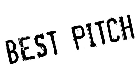proposed: Best Pitch rubber stamp. Grunge design with dust scratches. Effects can be easily removed for a clean, crisp look. Color is easily changed. Illustration