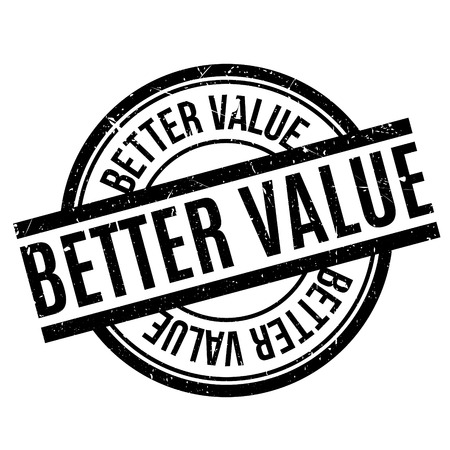 retail therapy: Better Value rubber stamp. Grunge design with dust scratches. Effects can be easily removed for a clean, crisp look. Color is easily changed.
