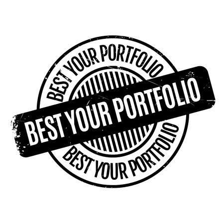 surpassing: Best Your Portfolio rubber stamp rubber stamp. Grunge design with dust scratches. Effects can be easily removed for a clean, crisp look. Color is easily changed.