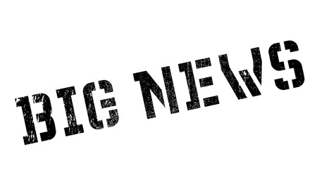 Big News rubber stamp. Grunge design with dust scratches. Effects can be easily removed for a clean, crisp look. Color is easily changed.