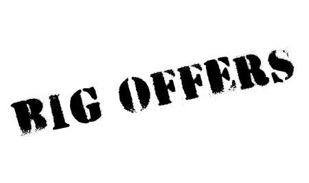 Grandes Ofertas sello de goma. Diseño de Grunge con los rasguños polvo. Los efectos se pueden quitar fácilmente para una apariencia limpia y nítida. En color se cambia fácilmente. Ilustración de vector