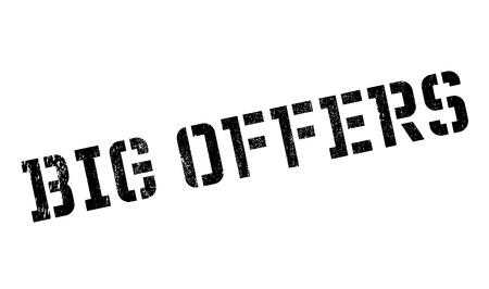Grandes Ofertas sello de goma. Diseño de Grunge con los rasguños polvo. Los efectos se pueden quitar fácilmente para una apariencia limpia y nítida. En color se cambia fácilmente.