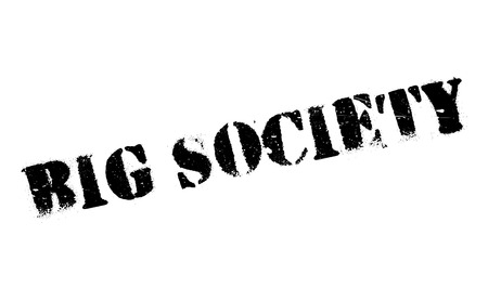 conservative: Big Society rubber stamp. Grunge design with dust scratches. Effects can be easily removed for a clean, crisp look. Color is easily changed.