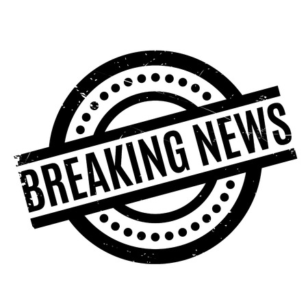 Breaking News rubber stamp. Grunge design with dust scratches. Effects can be easily removed for a clean, crisp look. Color is easily changed.