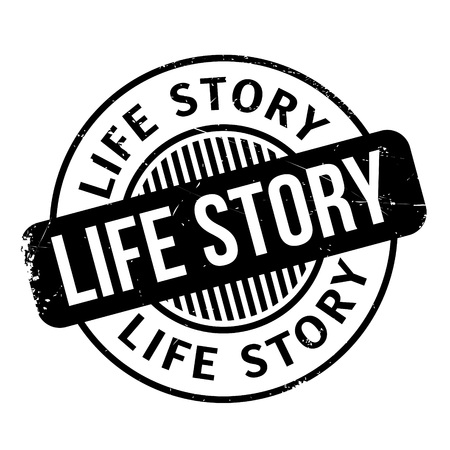 memoir: Life Story rubber stamp. Grunge design with dust scratches. Effects can be easily removed for a clean, crisp look. Color is easily changed.
