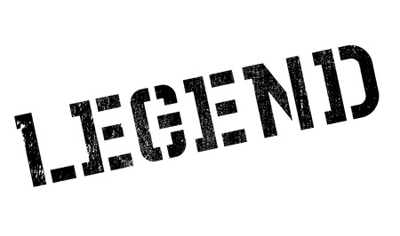 legend: Legend rubber stamp. Grunge design with dust scratches. Effects can be easily removed for a clean, crisp look. Color is easily changed. Illustration